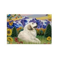 Mt Country & Great Pyrenees Rectangle Magnet
