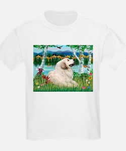 Country Birches & Great Pyrenees T-Shirt