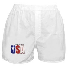 USA In God We Trust Boxer Shorts