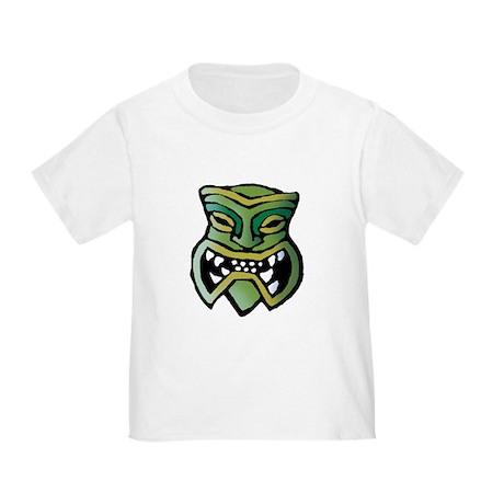 Green Tiki Head Toddler T-Shirt