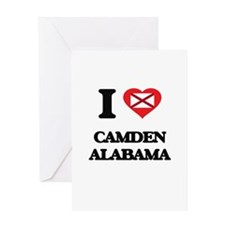 I love Camden Alabama Greeting Cards