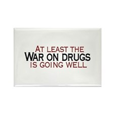 War on Drugs Rectangle Magnet