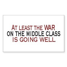 War on Middle Class Rectangle Decal