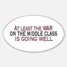War on Middle Class Oval Decal