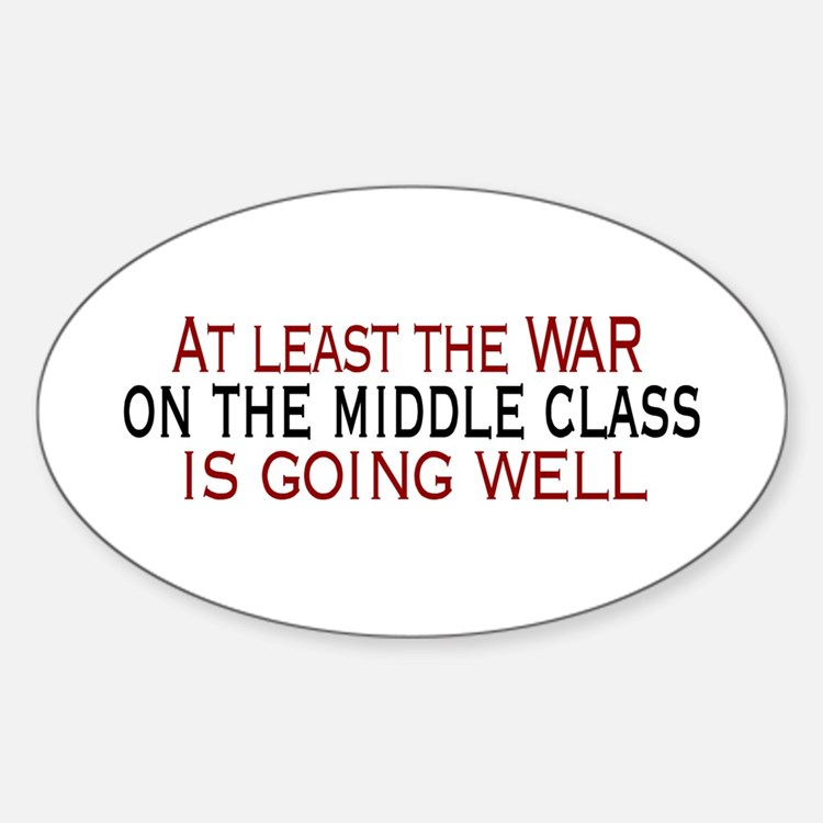 War on Middle Class Oval Stickers