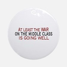 War on Middle Class Ornament (Round)