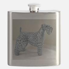 Cute Kerry blue terrier Flask