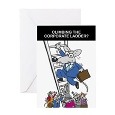 Corporate Ladder - Greeting Card