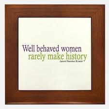 Well Behaved Women Framed Tile
