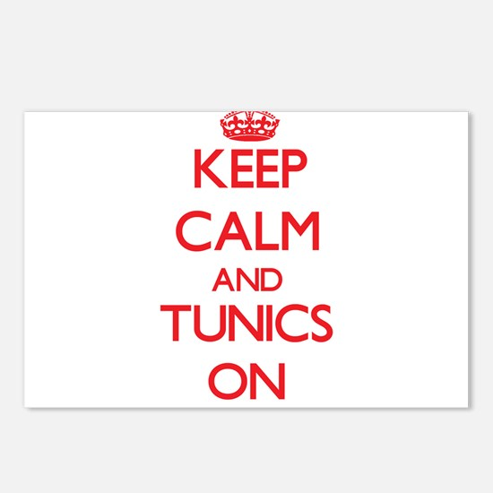 Keep Calm and Tunics ON Postcards (Package of 8)