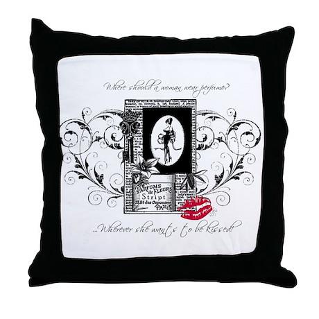 French Perfume Throw Pillow