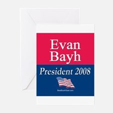 """Evan Bayh President"" Greeting Cards (6)"