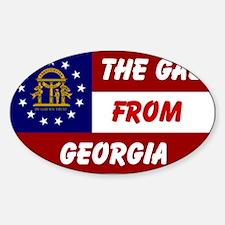 GEORGIA GAL Oval Decal