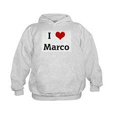 I Love Marco Hoodie