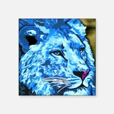 "Blue Lion Square Sticker 3"" x 3"""