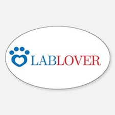 Lab Lover Oval Decal