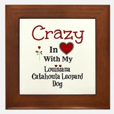 Louisiana Catahoula Leopard Dog Framed Tile