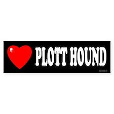 PLOTT HOUND Bumper Bumper Sticker