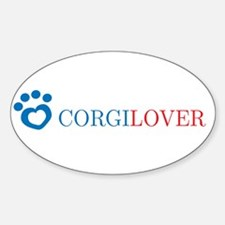 Corgi Lover Oval Decal