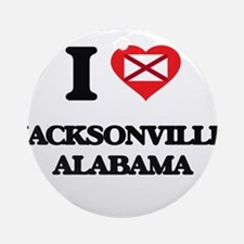I love Jacksonville Alabama Ornament (Round)