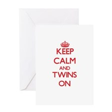 Keep Calm and Twins ON Greeting Cards