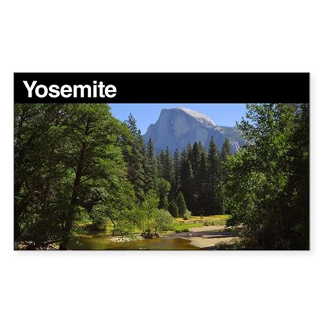 Yosemite National Park Rectangle Sticker