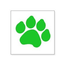 "Cute Pawprint Square Sticker 3"" x 3"""