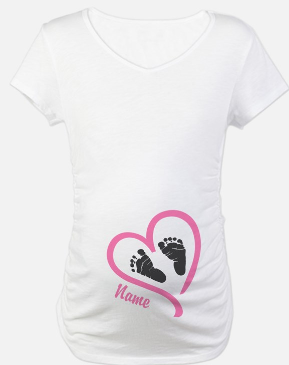 Baby Feet Pink Personalized Shirt