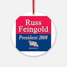 """Russ Feingold President"" Ornament (Round)"