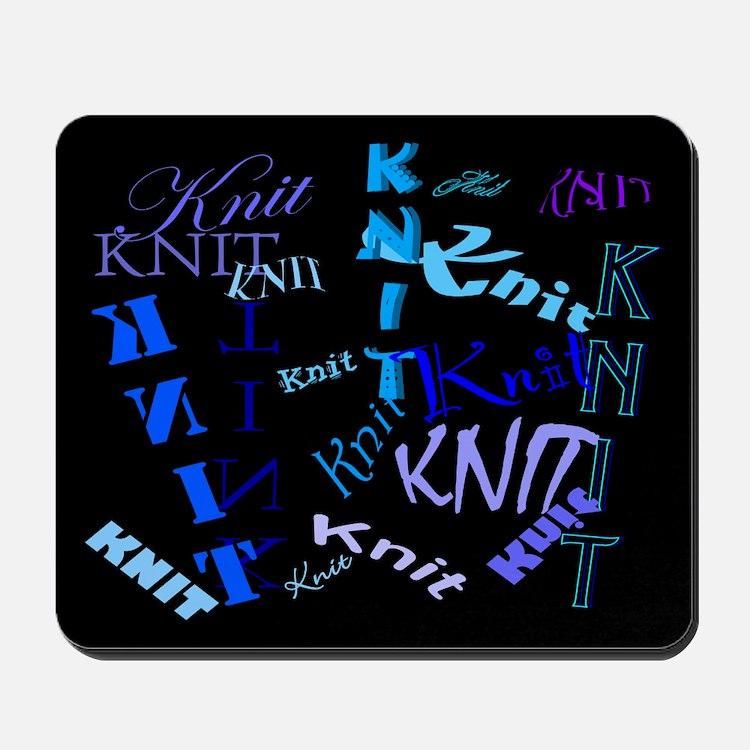 Knit Blue Dark Mousepad