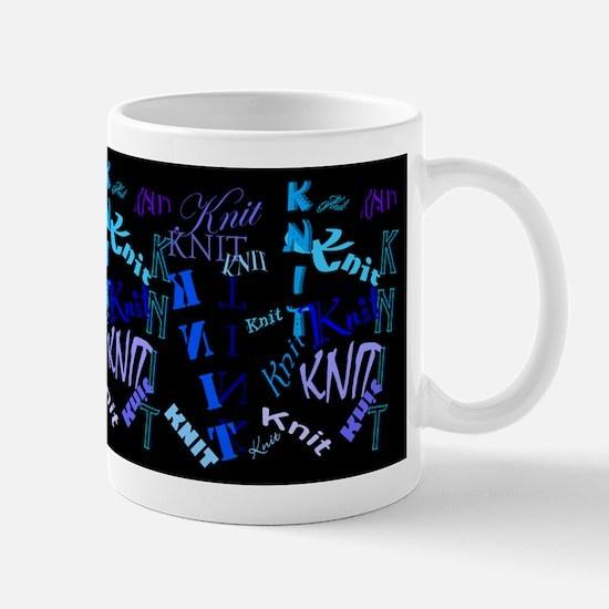 Knit Blue Dark Mug