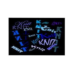 Knit Blue Dark Rectangle Magnet (10 pack)