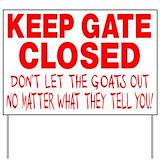 Goat Yard Signs