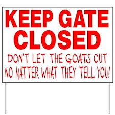 GOAT SIGN Yard Sign