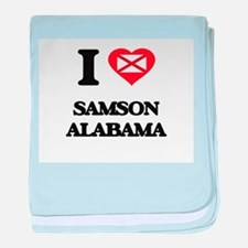 I love Samson Alabama baby blanket