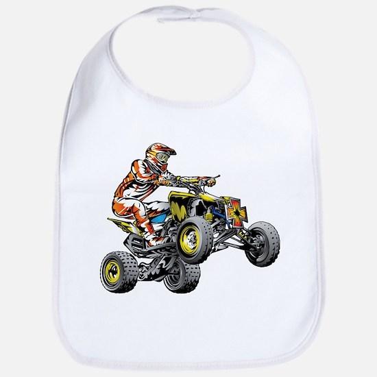 ATV Quad Racer Freestyle Baby Bib
