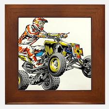ATV Quad Racer Freestyle Framed Tile