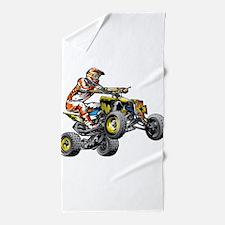 ATV Quad Racer Freestyle Beach Towel