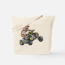 ATV Quad Racer Freestyle Tote Bag