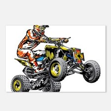 ATV Quad Racer Freestyle Postcards (Package of 8)
