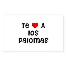 Te * A los Palomas Rectangle Decal