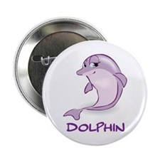 "Cute Baby Dolphin 2.25"" Button (100 pack)"