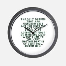 Bottom Of Your Soul Wall Clock