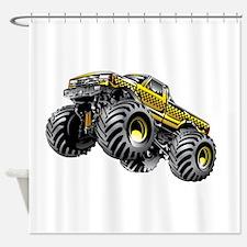 Monter Taxi Truck Shower Curtain