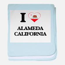 I love Alameda California baby blanket