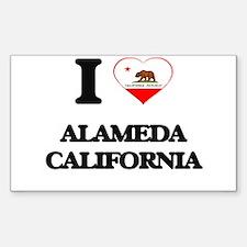 I love Alameda California Decal