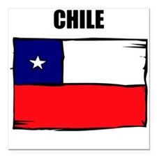 "Chile Square Car Magnet 3"" x 3"""