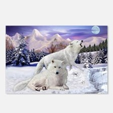 Snow Wolves Of The Wild Postcards (package Of 8)