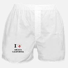 I love Arcata California Boxer Shorts