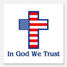 "Ingodwetrust.png Square Car Magnet 3"" X 3&quo"